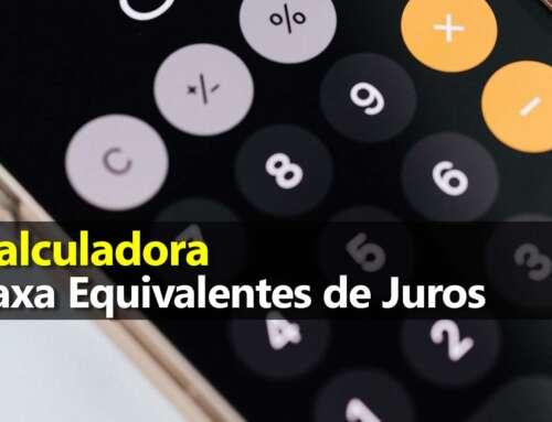 Calculadora Juros Equivalentes: diário, mensal e anual – Fórmula Excel