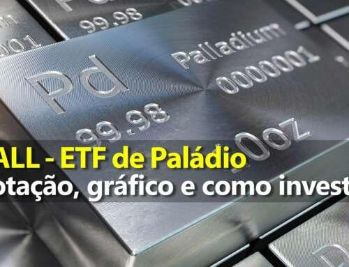Investir em Paládio pelo ETF PALL – Gráfico e Preço