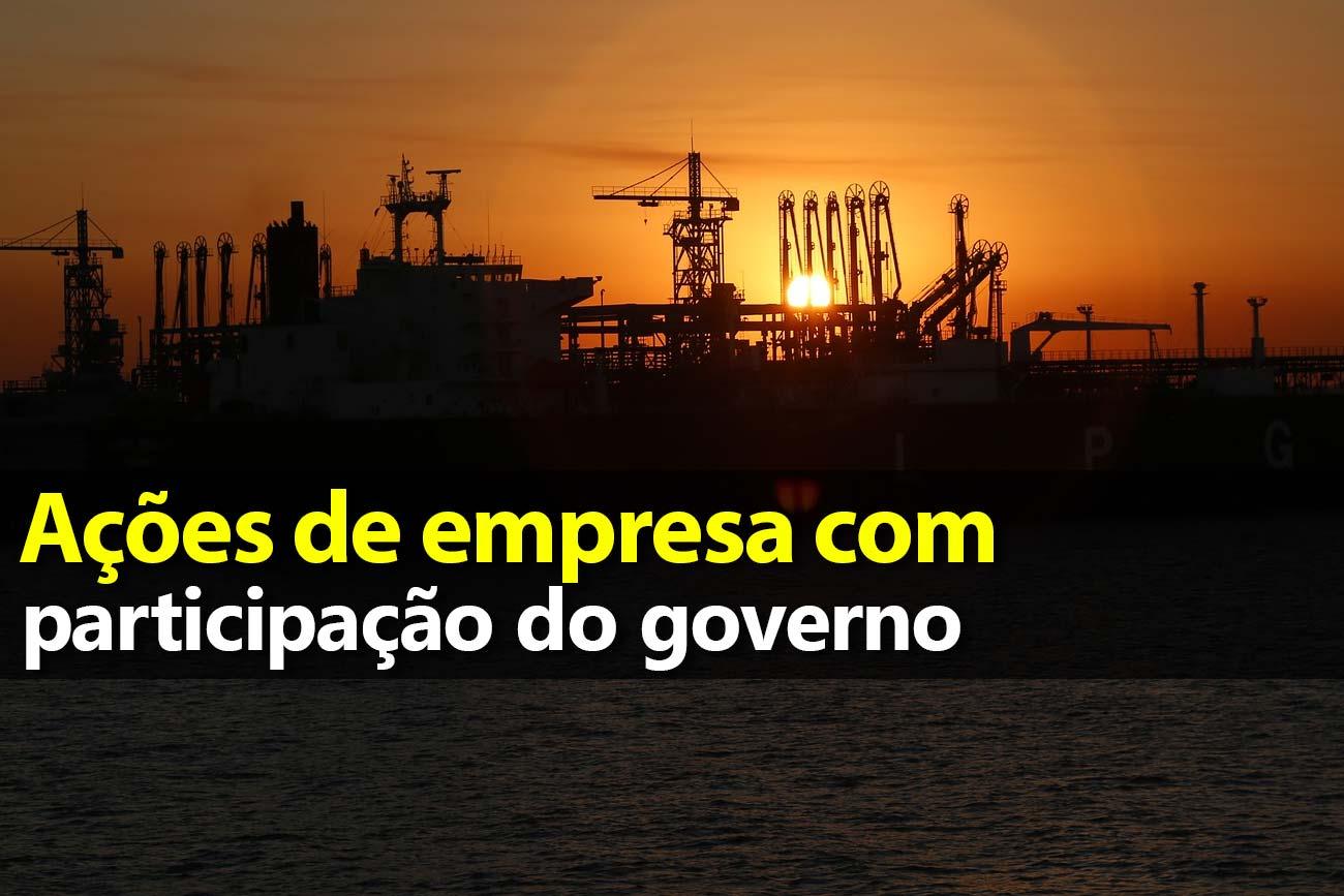 Ações de empresas com participação do governo
