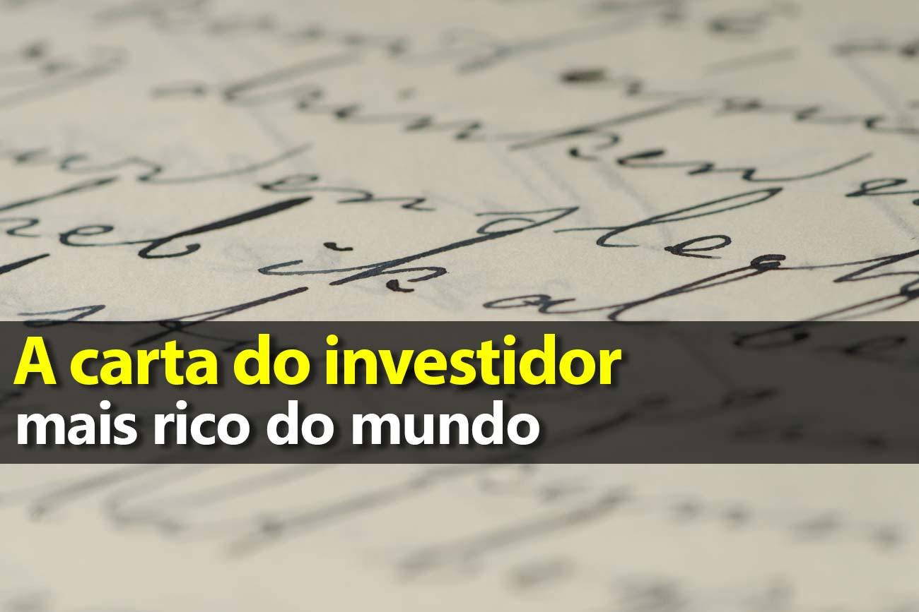 Carta do investidor mais rico do mundo