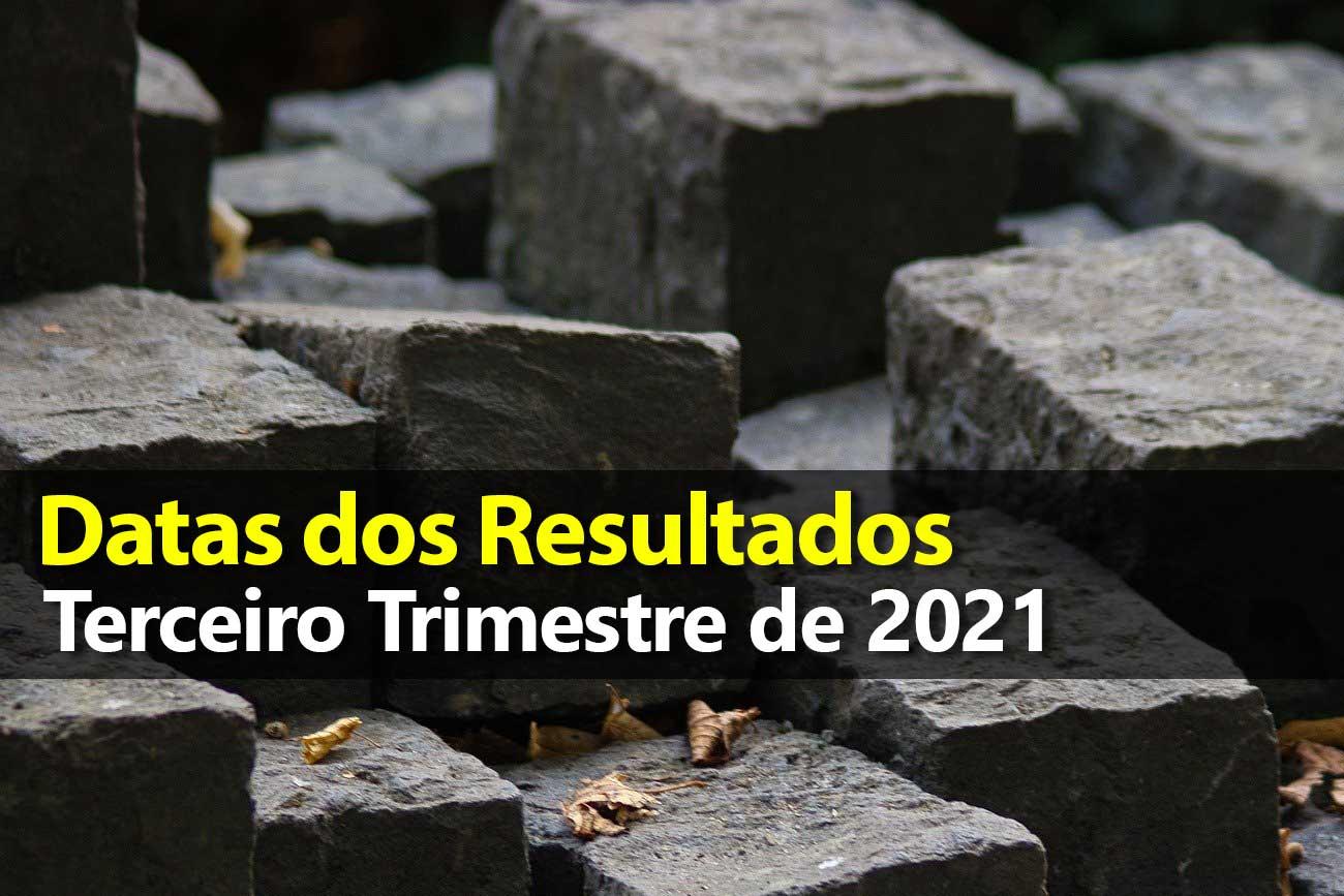 Divulgação dos Resultados da Bolsa – Terceiro Trimestre 2021